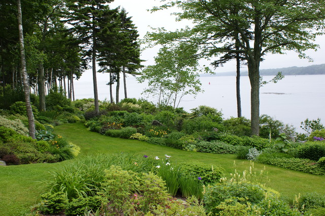 Coastal garden design beach style landscape other for Lake home landscape design