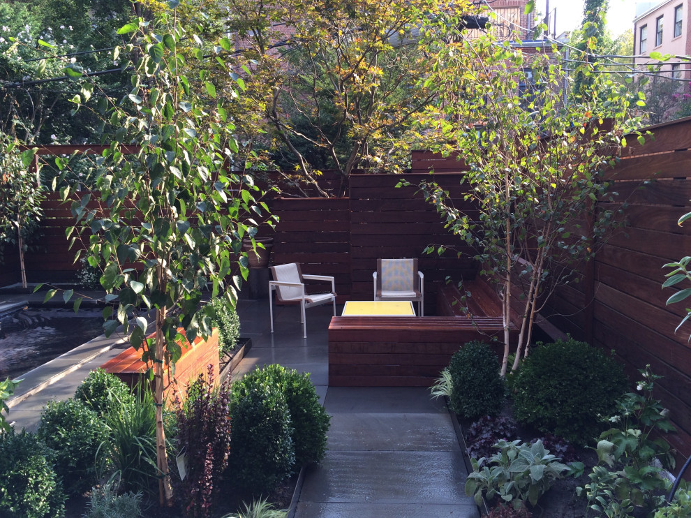 This is an example of a modern landscaping in New York.