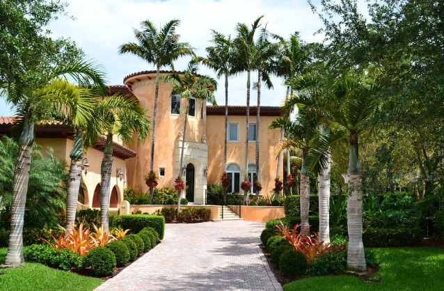 Private home mediterranean landscape miami by elena pinta