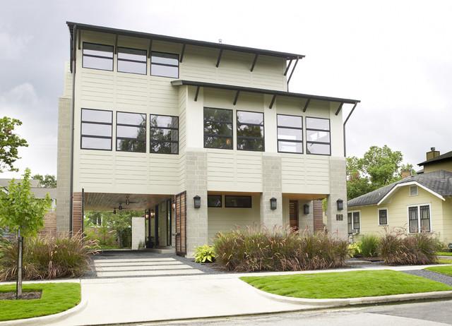 Cohen Residence Entire Front modern-landscape