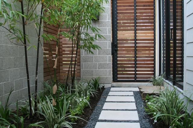 Cohen residence entry courtyard modern landscape for Courtyard landscape design