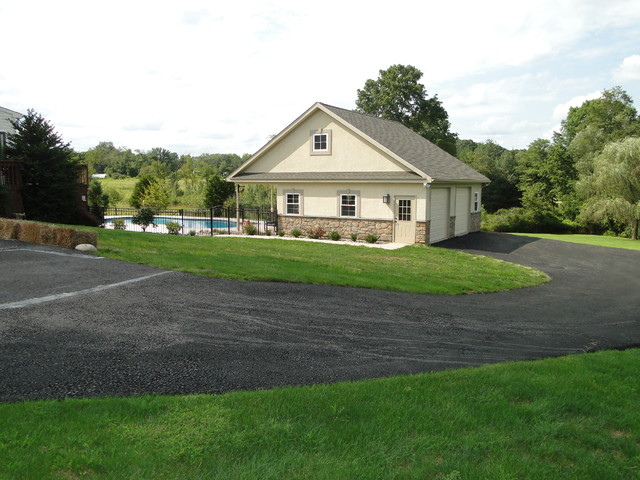 Collegeville, PA  Residence Pool house and Garage traditional-landscape