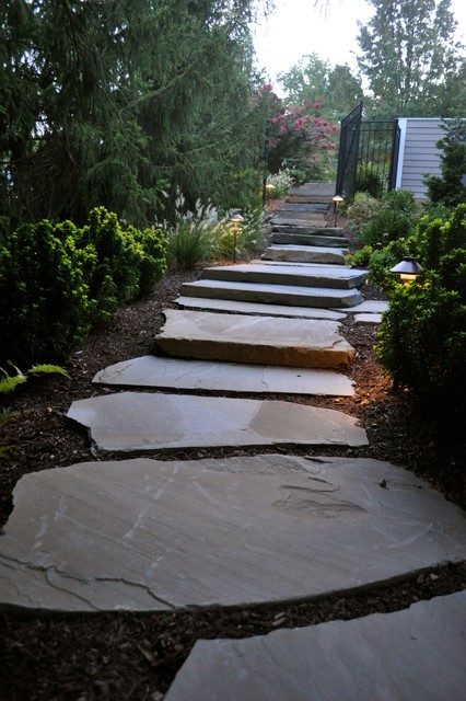 Colonial Stepper Pathway Traditional Landscape Dc