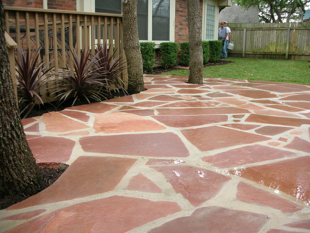 Colorado Red Flagstone Patio