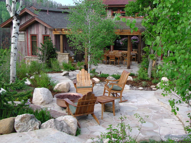 Colorado residence rustic landscape denver by land for Rustic landscape ideas
