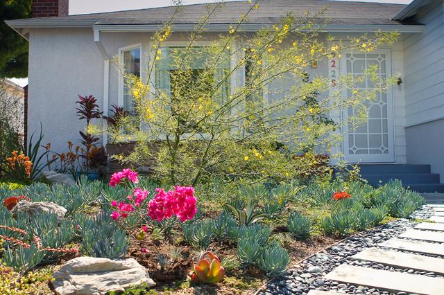 Colorful Entrance Drought Tolerant Garden Eclectic