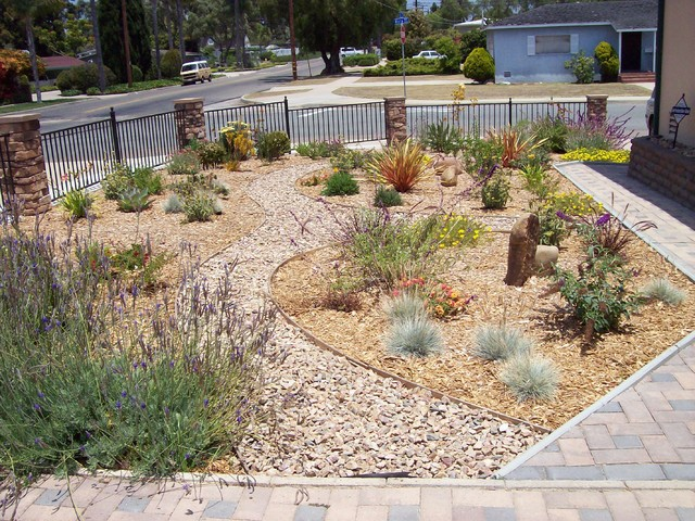 Colorful new front yard in chula vista traditional for Backyard landscaping ideas san diego