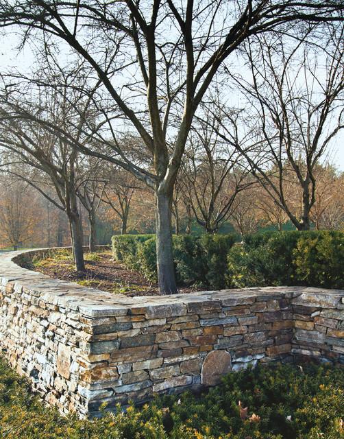 Landscaping Stone Maryland : Columbia maryland wallstone traditional landscape