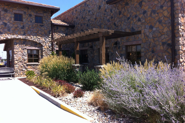Commercial curb appeal traditional landscape st - Olive garden wentzville missouri ...