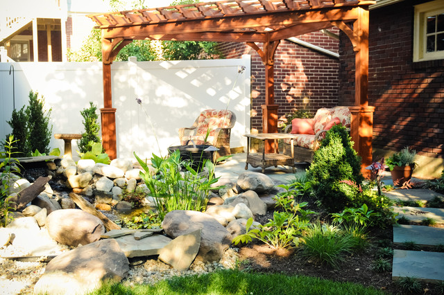 Backyard Escapes Landscaping : Compact backyard escape traditional landscape other metro by