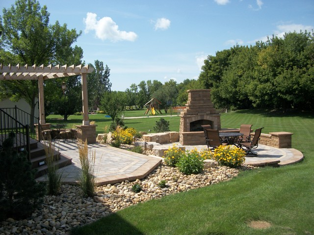Complete Outdoor Living Space traditional-landscape