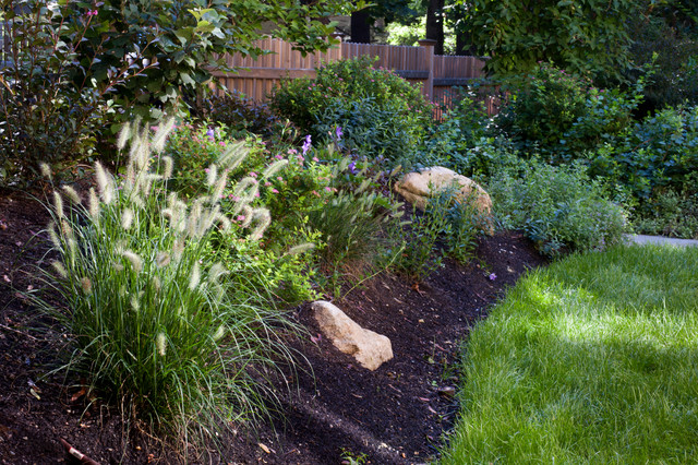 Mulch Entire Backyard : Landscape Architects & Landscape Designers