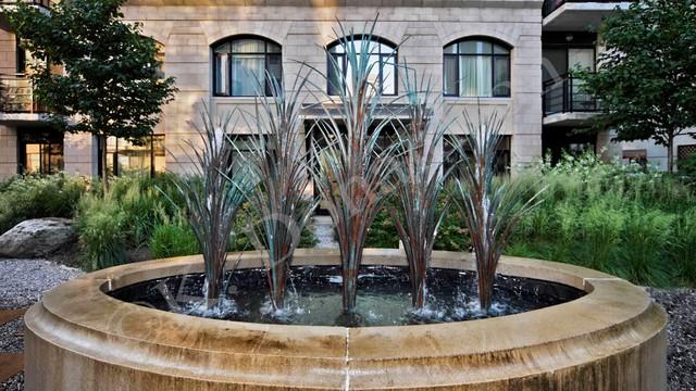 Condo Terrace Water Feature contemporary-landscape