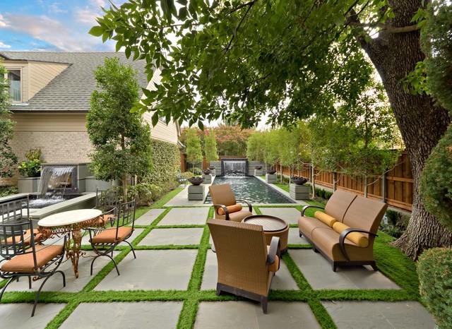 Park Cities Backyard Retreat Transitional Landscape