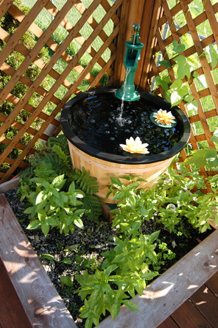 Container water gardens traditional landscape chicago by aquascape - Water garden containers for sale ...