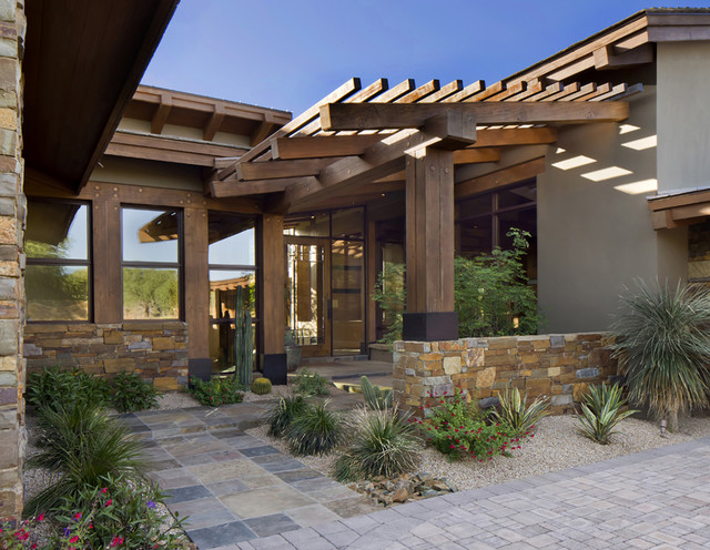 Modern Post And Beam Craftsman Landscape Phoenix