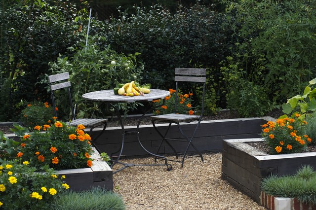 design ideas for a traditional vegetable garden landscape in birmingham