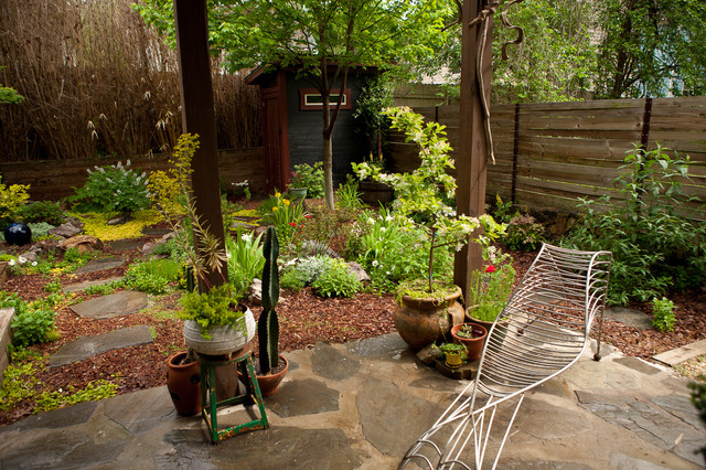 Contemporary Eclectic Japanese Inspired Garden - Asian - Landscape