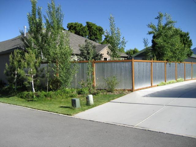 Contemporary Fence Contemporary Landscape Salt Lake