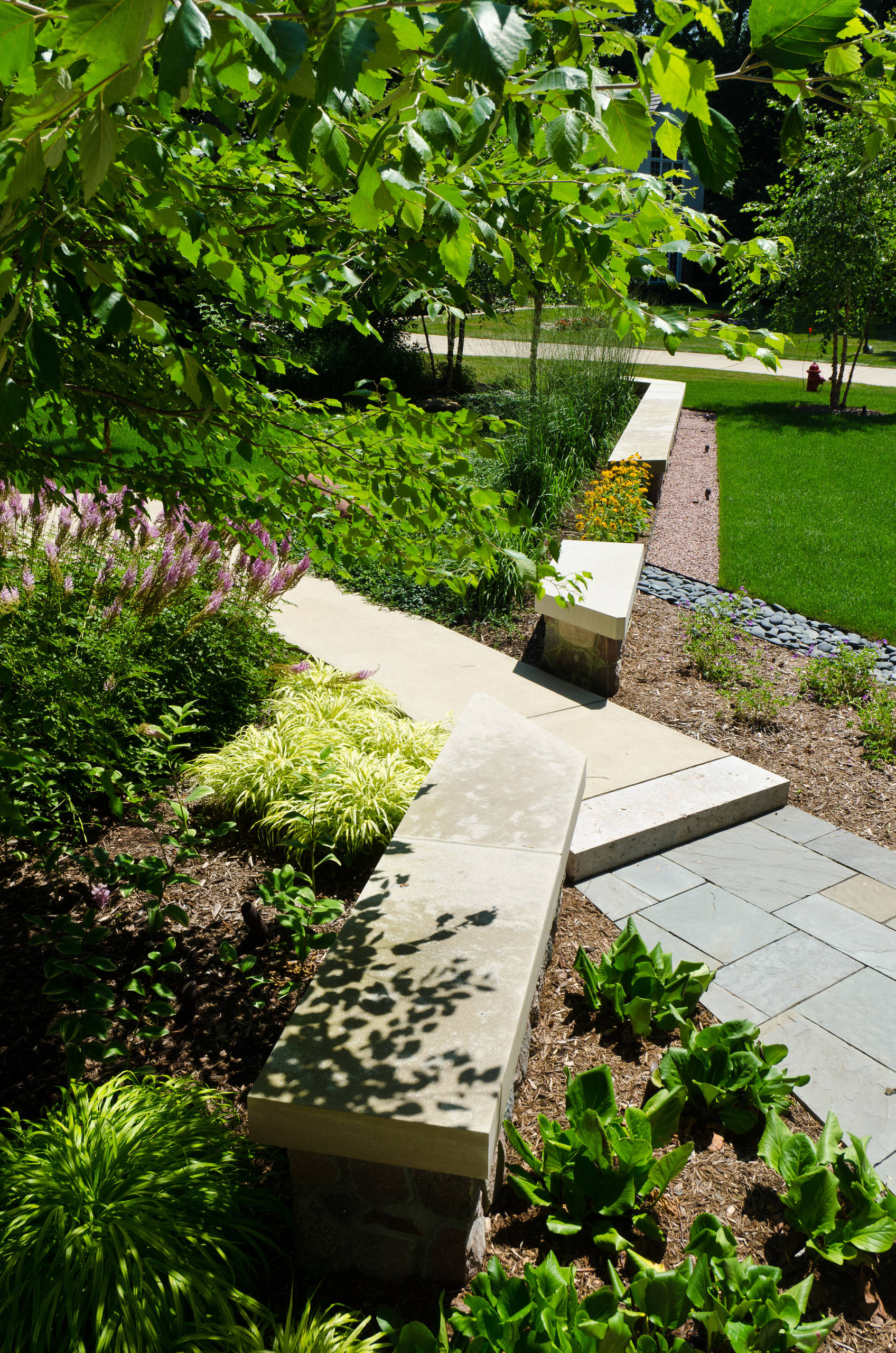 Contemporary Front Walk - Brookfield