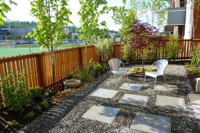 Contemporary Gravel Garden Contemporary Landscape