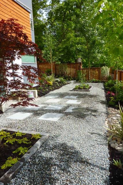 Garden Ideas Small Landscape Gardens Pictures Gallery: Contemporary Gravel Garden
