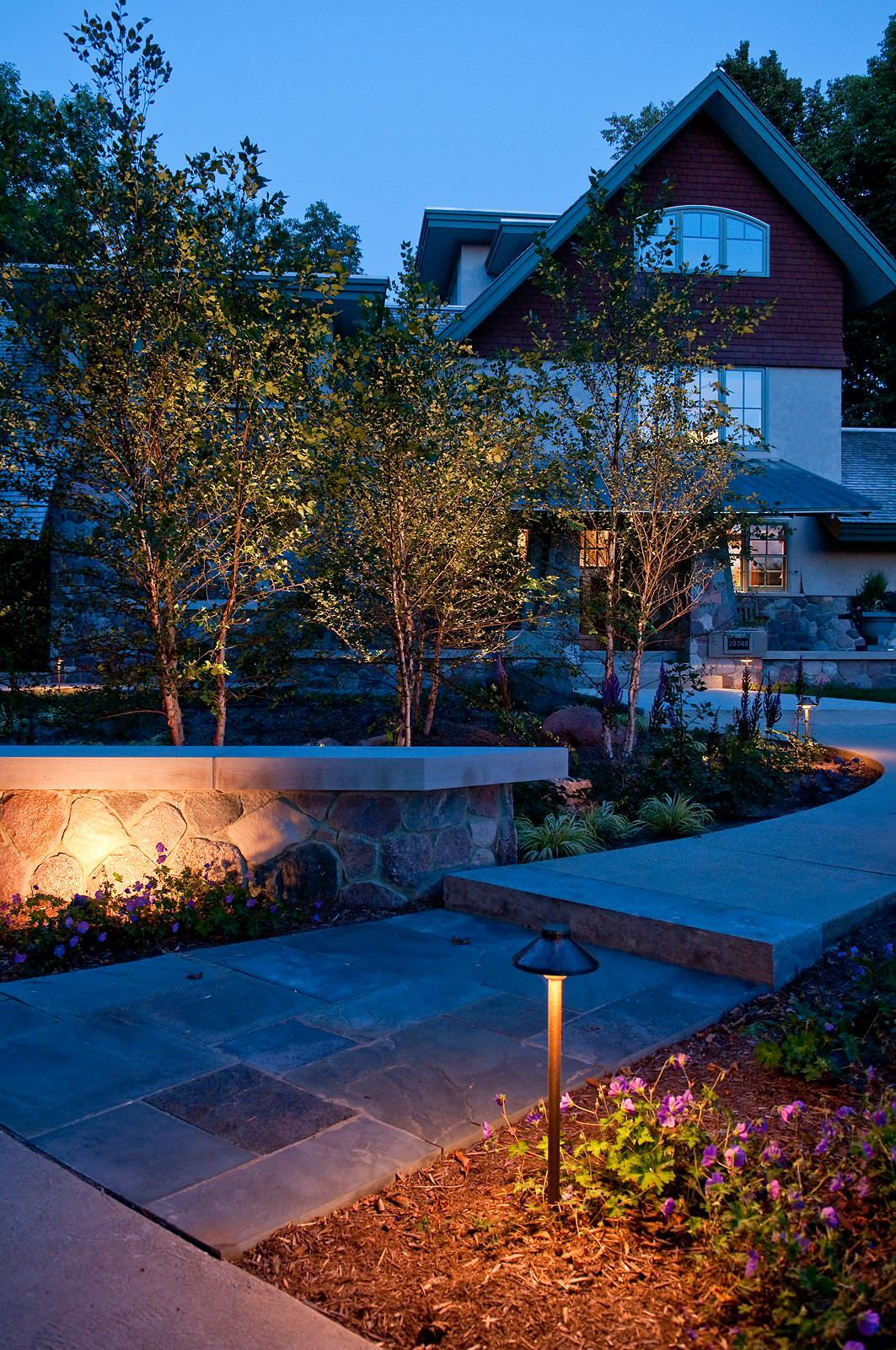 Contemporary Landscape Lighting - Brookfield
