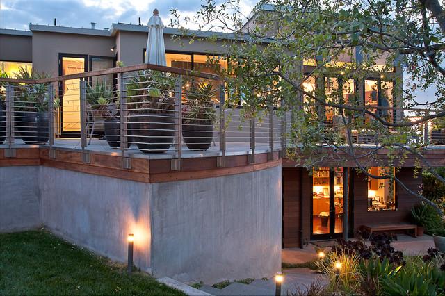Rear Terrace contemporary-landscape
