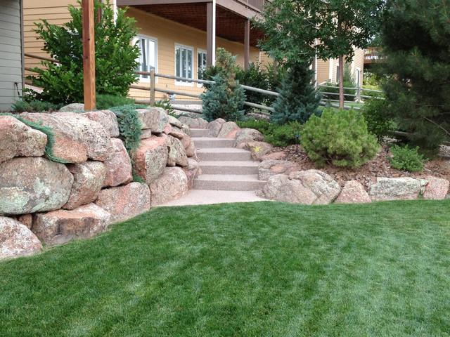 Moss rock landscape - Contemporary - Landscape - denver - by Sierra Enterprises, Inc.