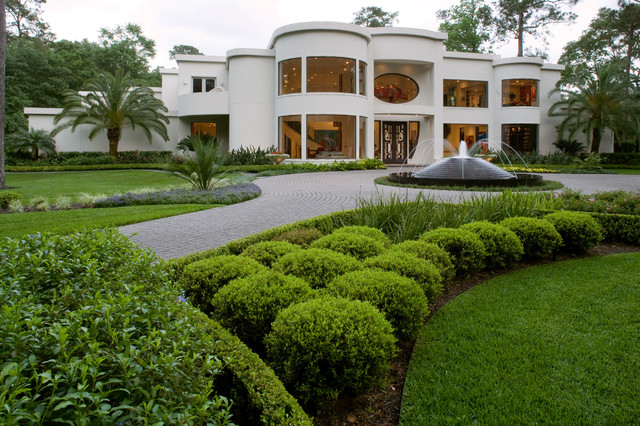Contemporary landscaping project contemporary for Landscape design houston