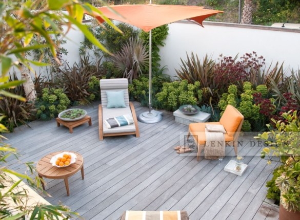 Contemporary patio at the beach contemporary landscape for Beach garden designs