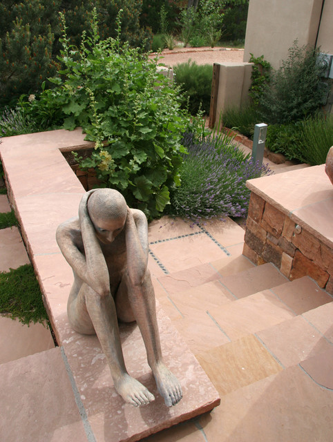 Contemporary Sculpture Garden traditional-landscape