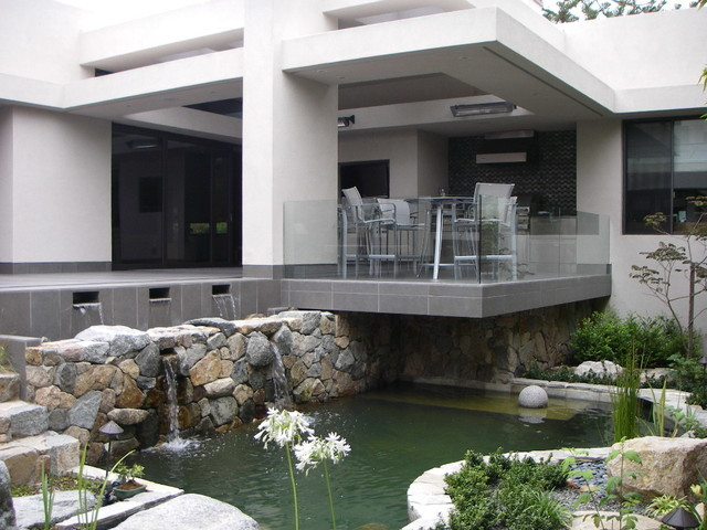 Contemporary style koi pond asian landscape other for Contemporary koi pond design