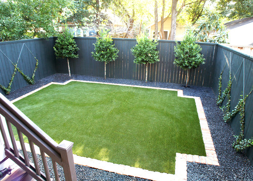 Townhouse Backyard Fence : Contemporary Townhouse  Heights, Houston ? More Info