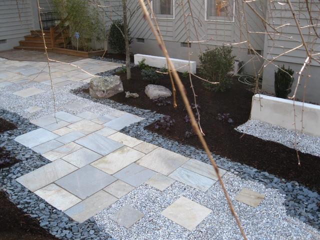 Contemporary Zen Curb Appeal contemporary-landscape