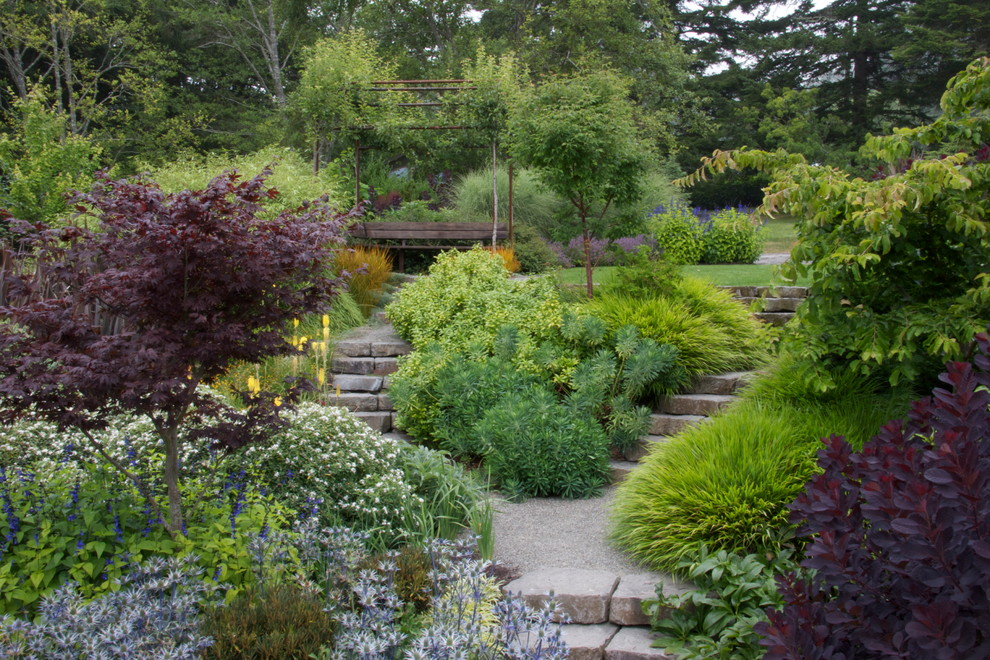 Design ideas for a traditional hillside landscaping in Other.