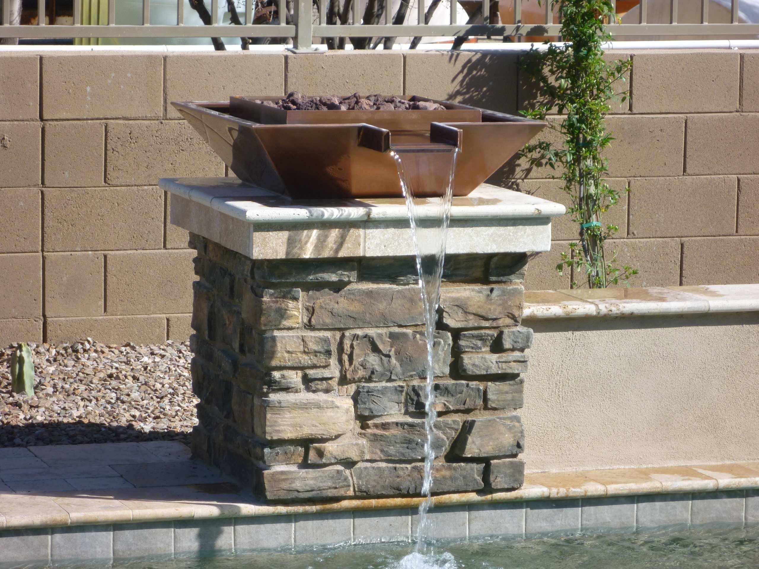 Copper Wok Water & Fire Feature