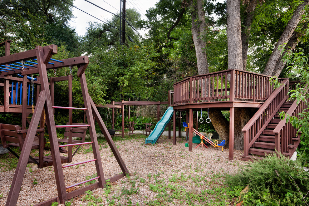 Design ideas for a traditional outdoor playset in Austin.