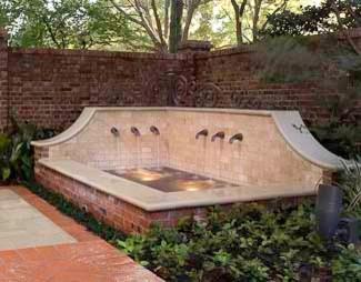 Corner Fountain Traditional Landscape