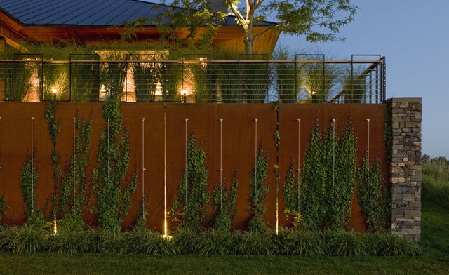 Corten Steel Wall Modern Landscape Burlington By