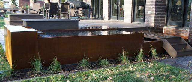 Corten Water Feature modern-landscape