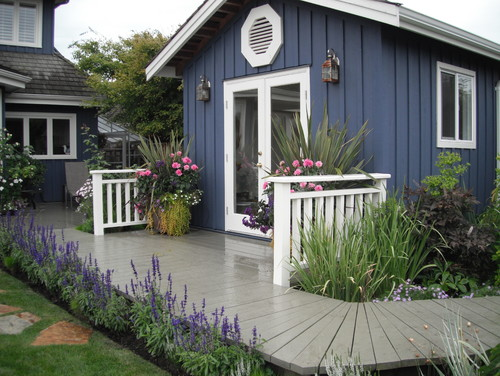What is the name of the paint colour on the boardwalk surrounding the shed?