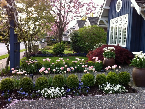 Emphasize The Path To Your Door By Lining It With Rows Of Small Shrubs,  Miniature Roses And Other Low Growing Plants. If You Have Room To Spare On  Either ...