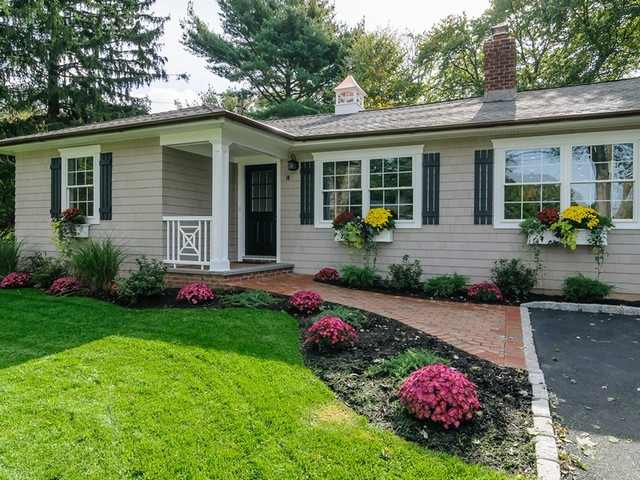 Cottage Ranch Before After Traditional Landscape New York