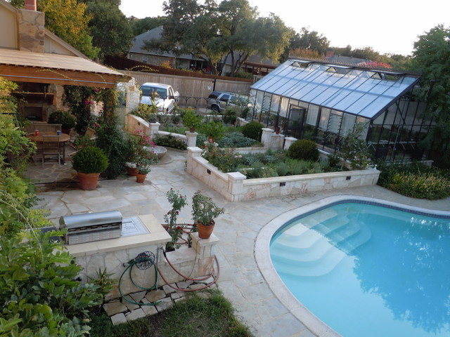 Cottage Style Cross Country Greenhouse traditional-pool