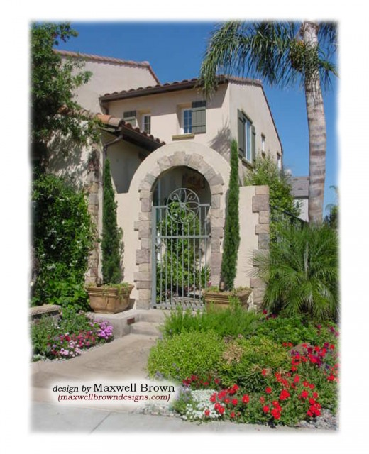 Mediterranean Mansion In Orange County With Awesome: Courtyard Entry In Irvine, California