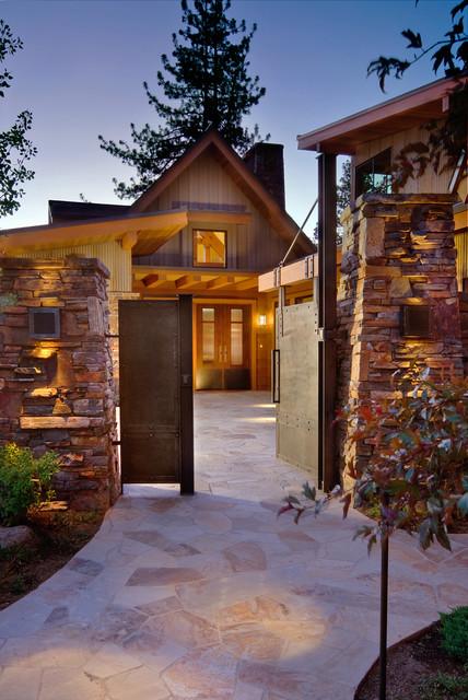 Courtyard Entry Rustic Landscape Sacramento By