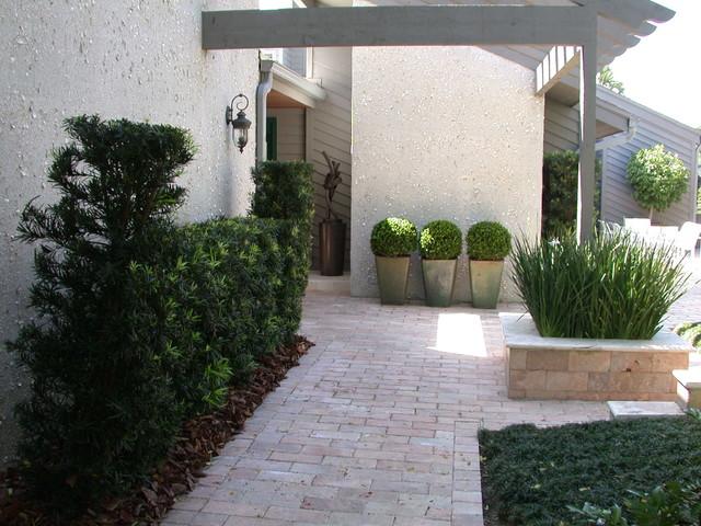 Courtyard modern landscape jacksonville by garden for Garden design jacksonville fl