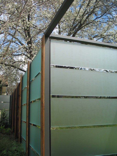 Frosted fence panels for Garden decking glass panels