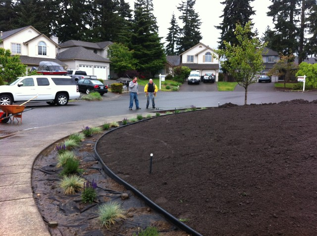 Landscaping Leveling Yard : Covington tri level front yard landscape